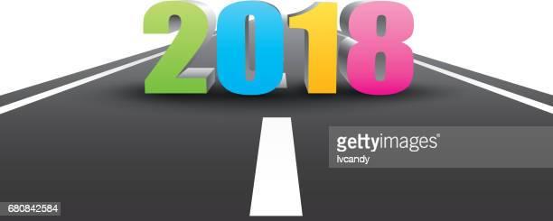 new year 2018 ahead - pastry lattice stock illustrations, clip art, cartoons, & icons