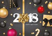 New year 2018 banner design