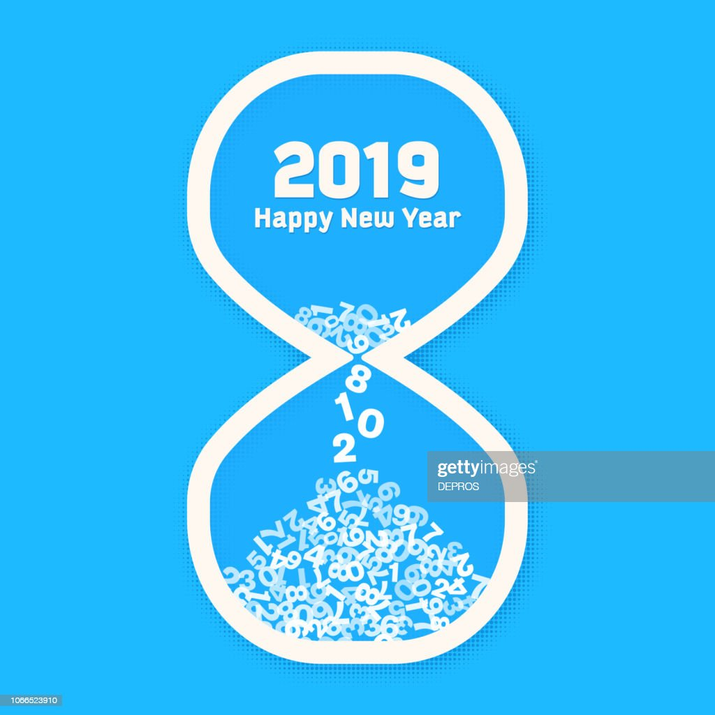 New Year 2019 count down, last days of Year 2018