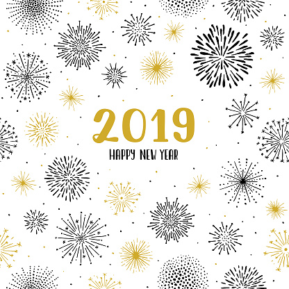 New year 2019 fireworks seamless pattern - gettyimageskorea