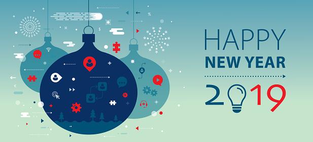 New Year 2019 Greeting Banner - gettyimageskorea