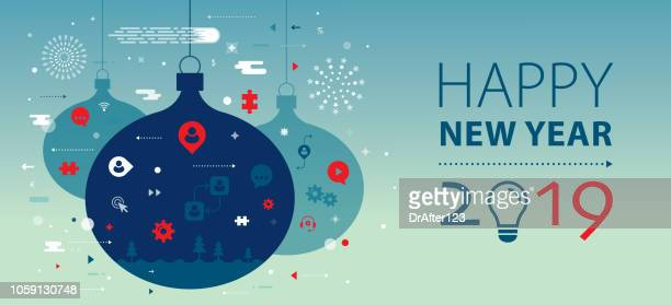 New Year 2019 Greeting Banner