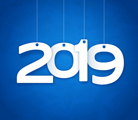 New Year 2019 Number Tags - gettyimageskorea