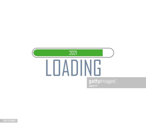 new year 2021 loading vector illustration - glühend stock illustrations