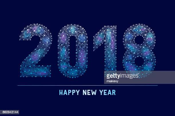 2018 new year abstract technology greeting
