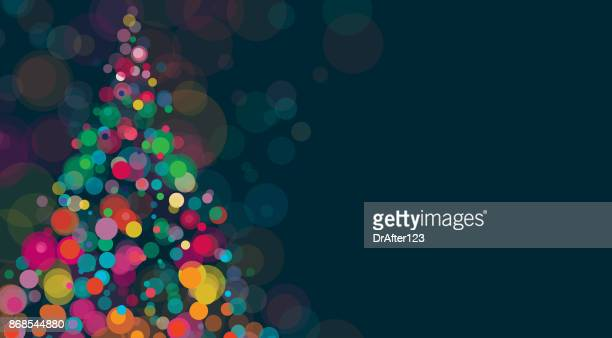 new year and christmas background horizontal - illuminated stock illustrations