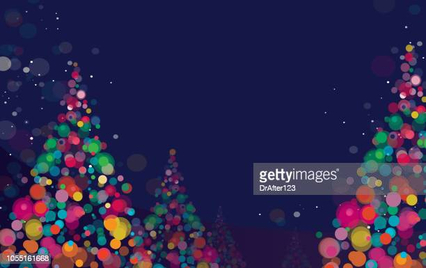 new year and christmas background - illuminated stock illustrations