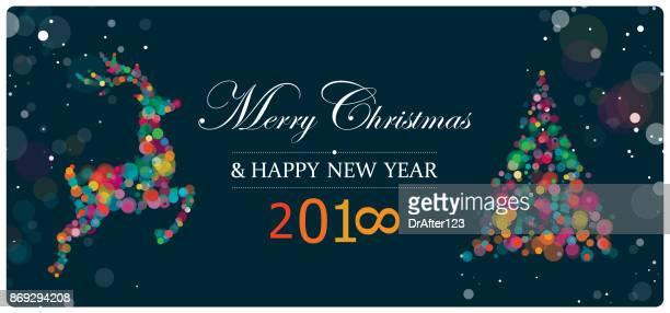 New Year And Christmas Greeting Horizontal