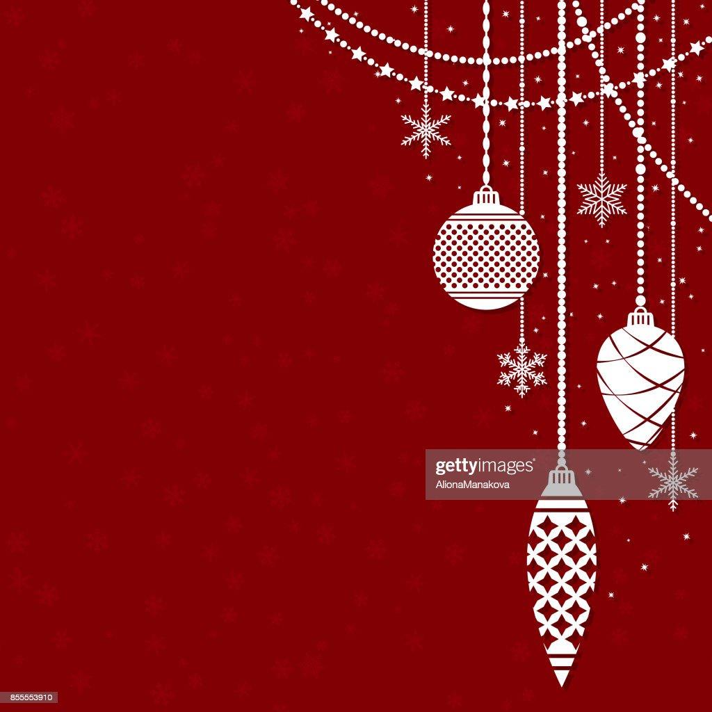 Frohe Weihnachten Und Neujahr Hintergrund Vektorgrafik | Getty Images