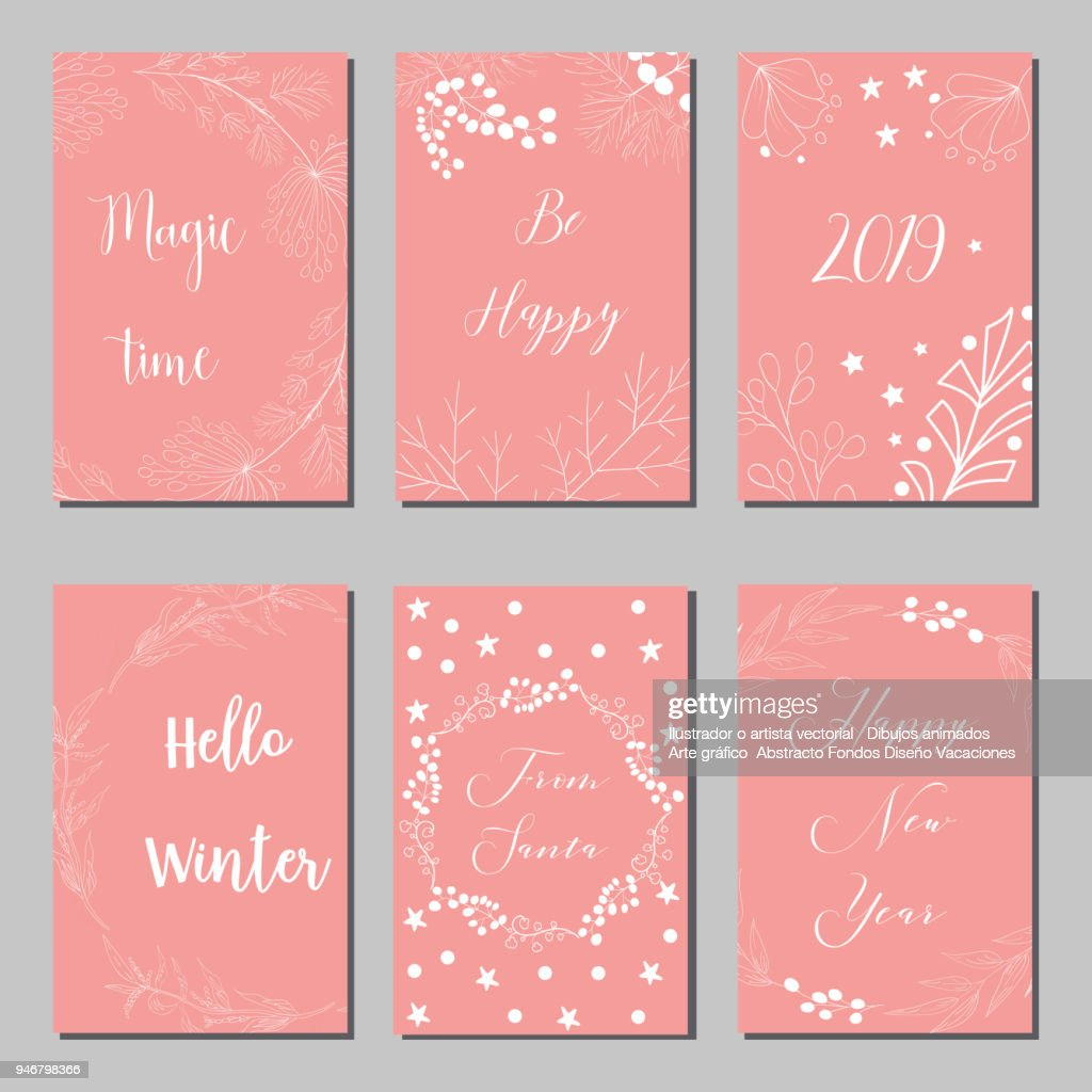 New Year and Merry Christmas decoration set