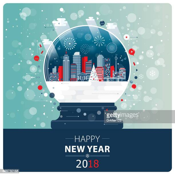 New Year And Xmas Glass Ball