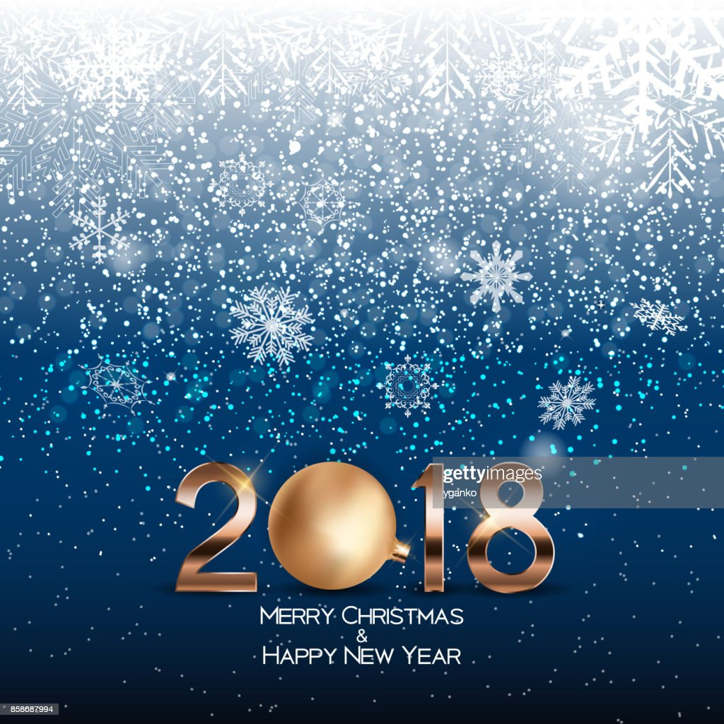 2018 new year background with christmas ball vector illustration vector art