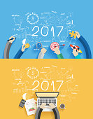 2017 new year business success working