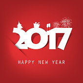 New Year Card Background - 2017
