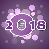 New Year Card Background - 2018