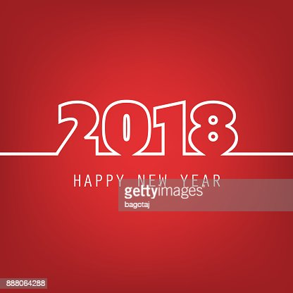 new year card background 2018 vector art getty images