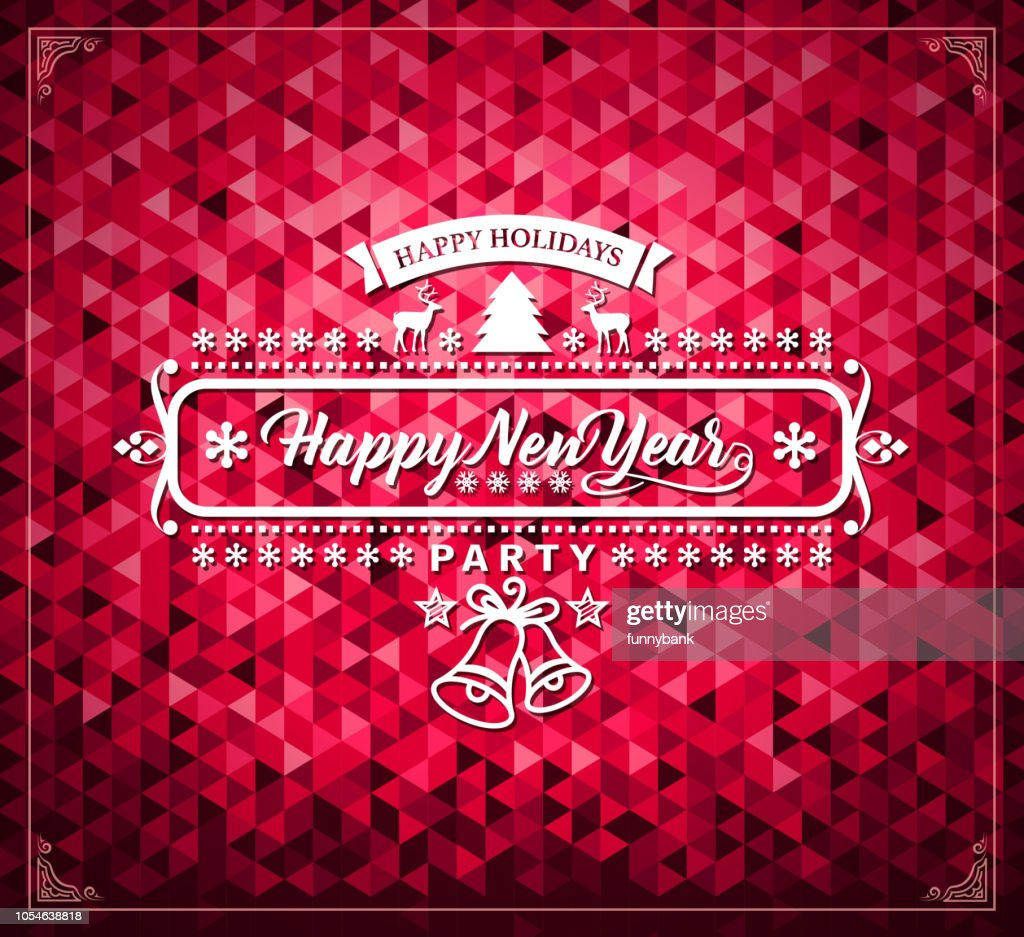 new year card message vector art