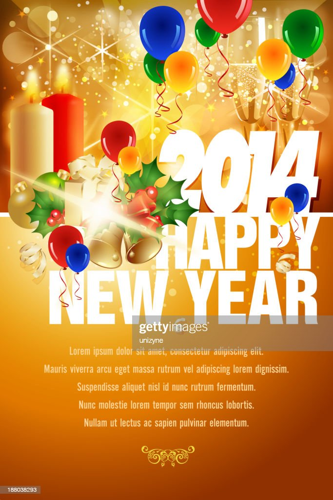 new year celebration background vector art