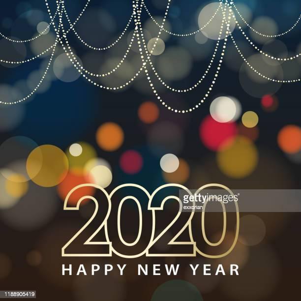 2020 new year celebration - illuminated stock illustrations