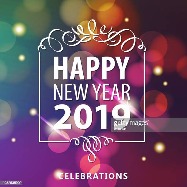 2019 new year celebrations - ceremony stock illustrations
