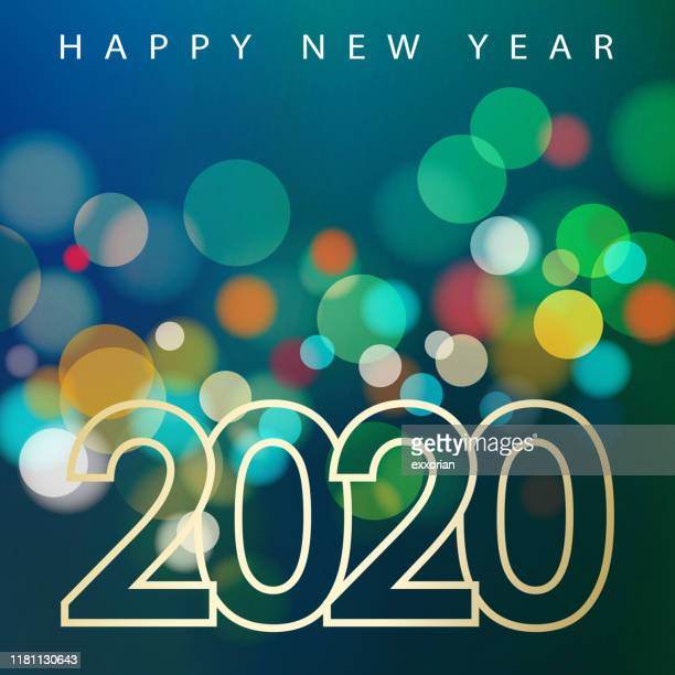 2020 new year celebrations - igniting stock illustrations