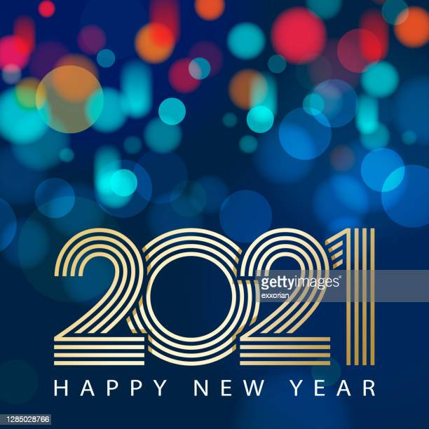 2021 new year celebrations - new year's eve stock illustrations
