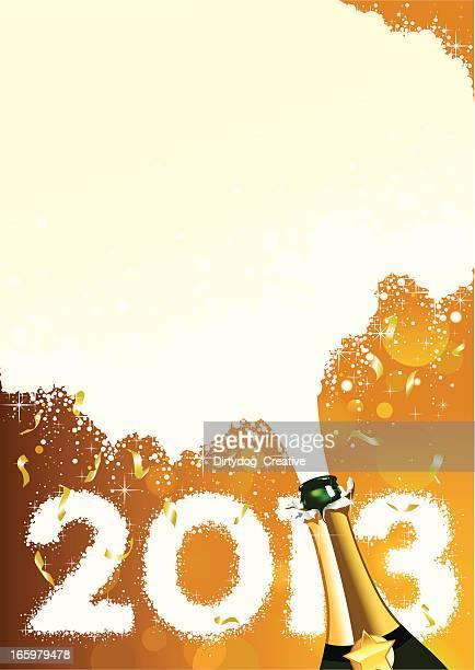 シャンパン新しい年 2013 年 - 紙テープ点のイラスト素材/クリップアート素材/マンガ素材/アイコン素材