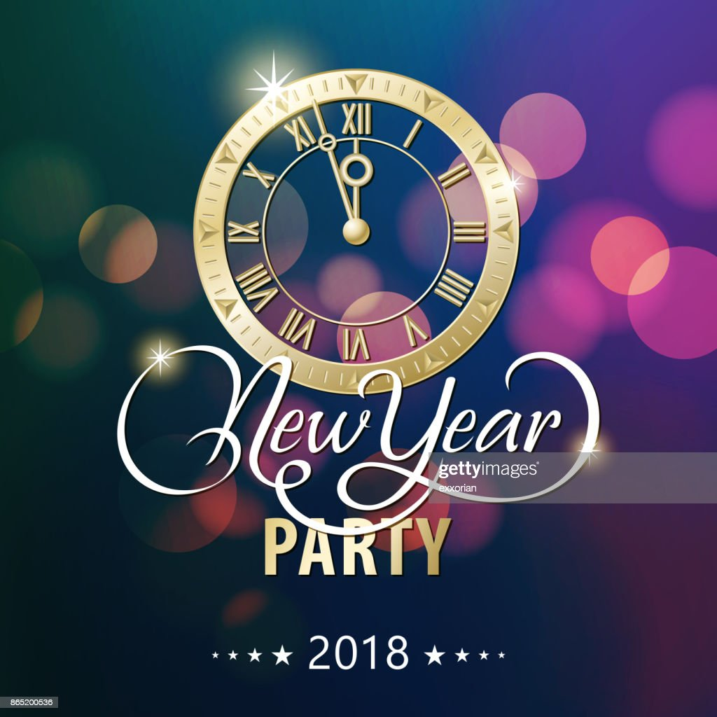 New Year Countdown Party 2018 High-Res Vector Graphic ...