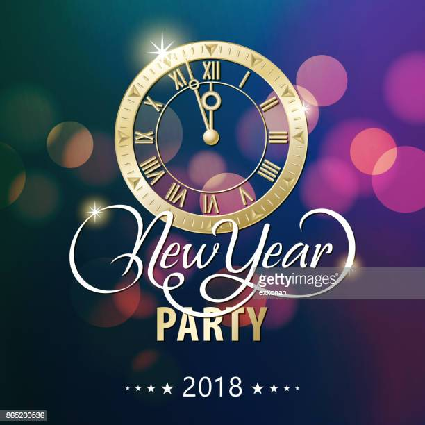 New Year Countdown feest 2018