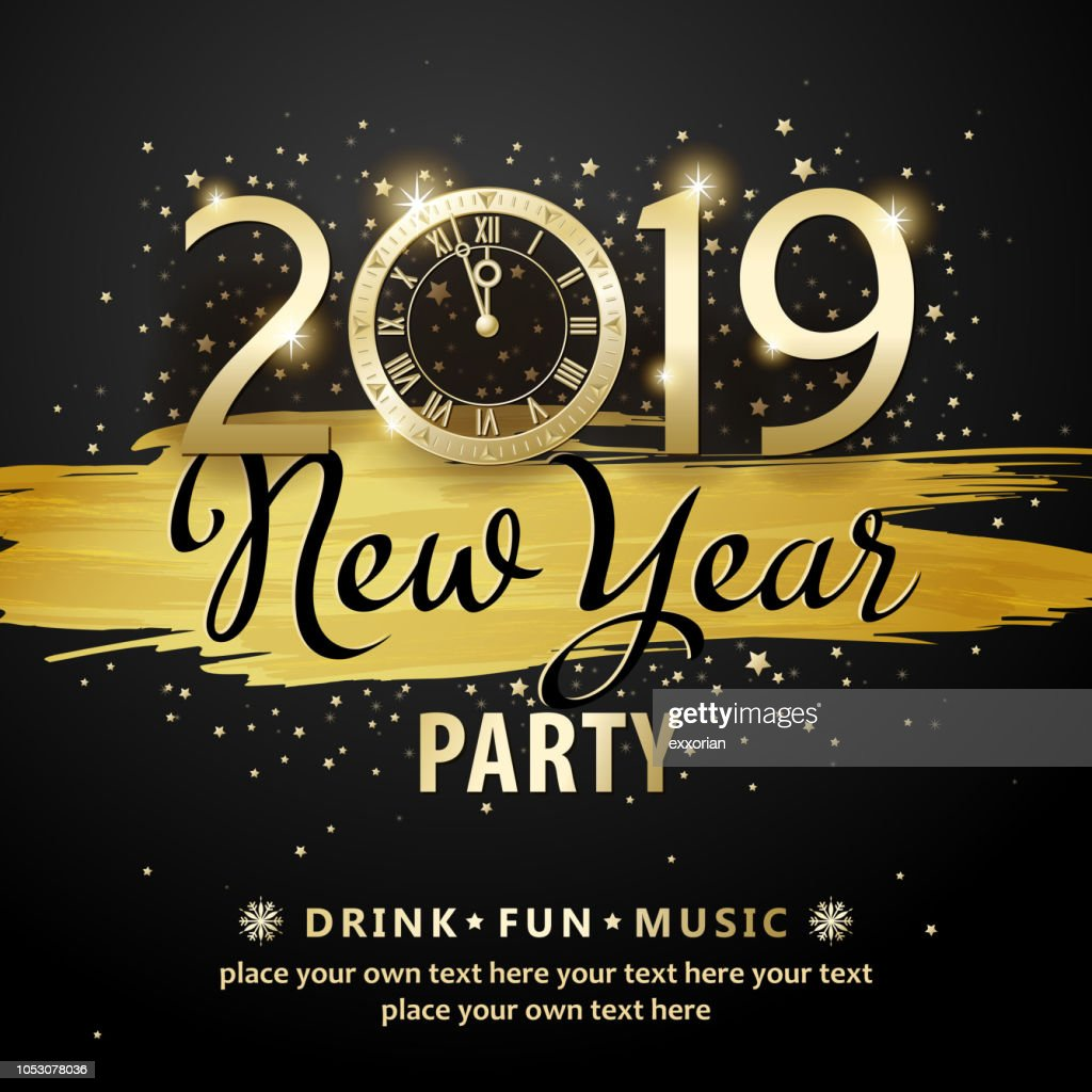 New Year Countdown Party 2019 : stock illustration