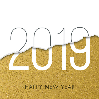 2019 - New Year Day greeting card. - gettyimageskorea