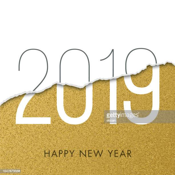 2019 - new year day greeting card. - glamour stock illustrations