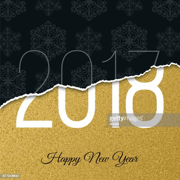 2018 - new year day greeting card. - celebrities stock illustrations, clip art, cartoons, & icons