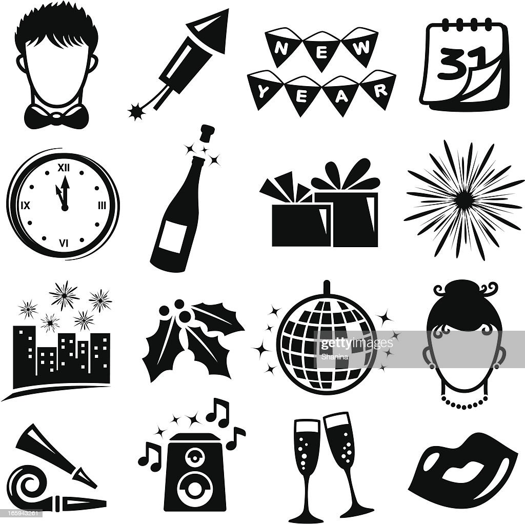 New years eve clipart stock vector. Illustration of 2018 ...