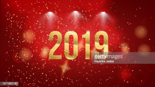ilustraciones, imágenes clip art, dibujos animados e iconos de stock de 2019 la víspera de año nuevo partido la bandera - 2019