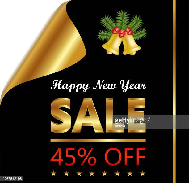 New Year Forty Five Percent Sale On Golden Black Curled Luxury Paper