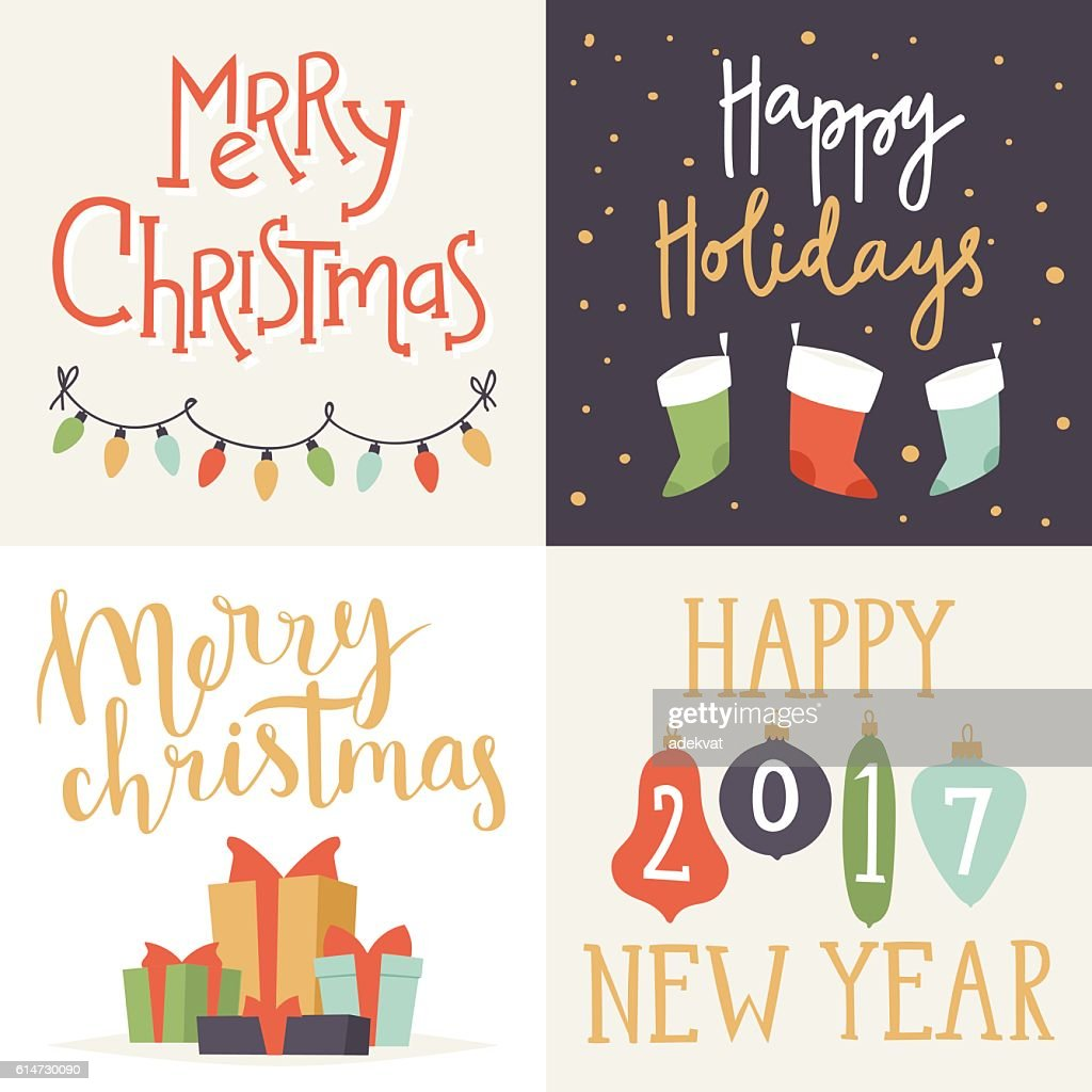 New Year Greeting Card Design Vector Art Getty Images