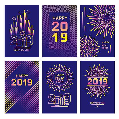New year greeting card set - gettyimageskorea