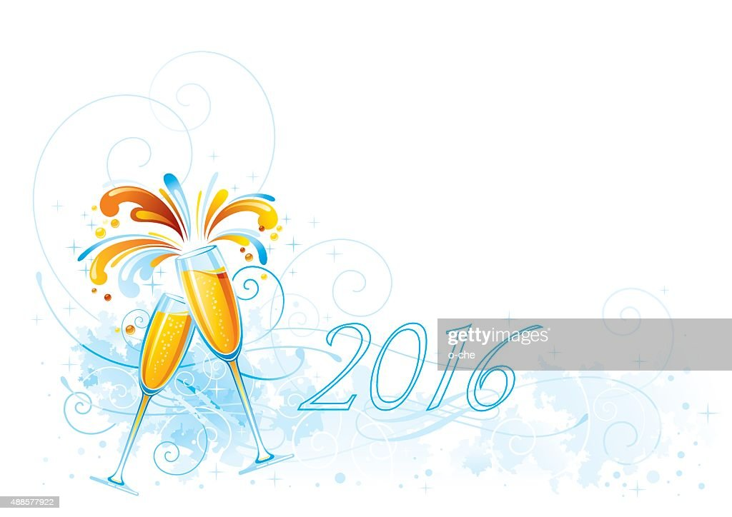 New Year holiday champagne background