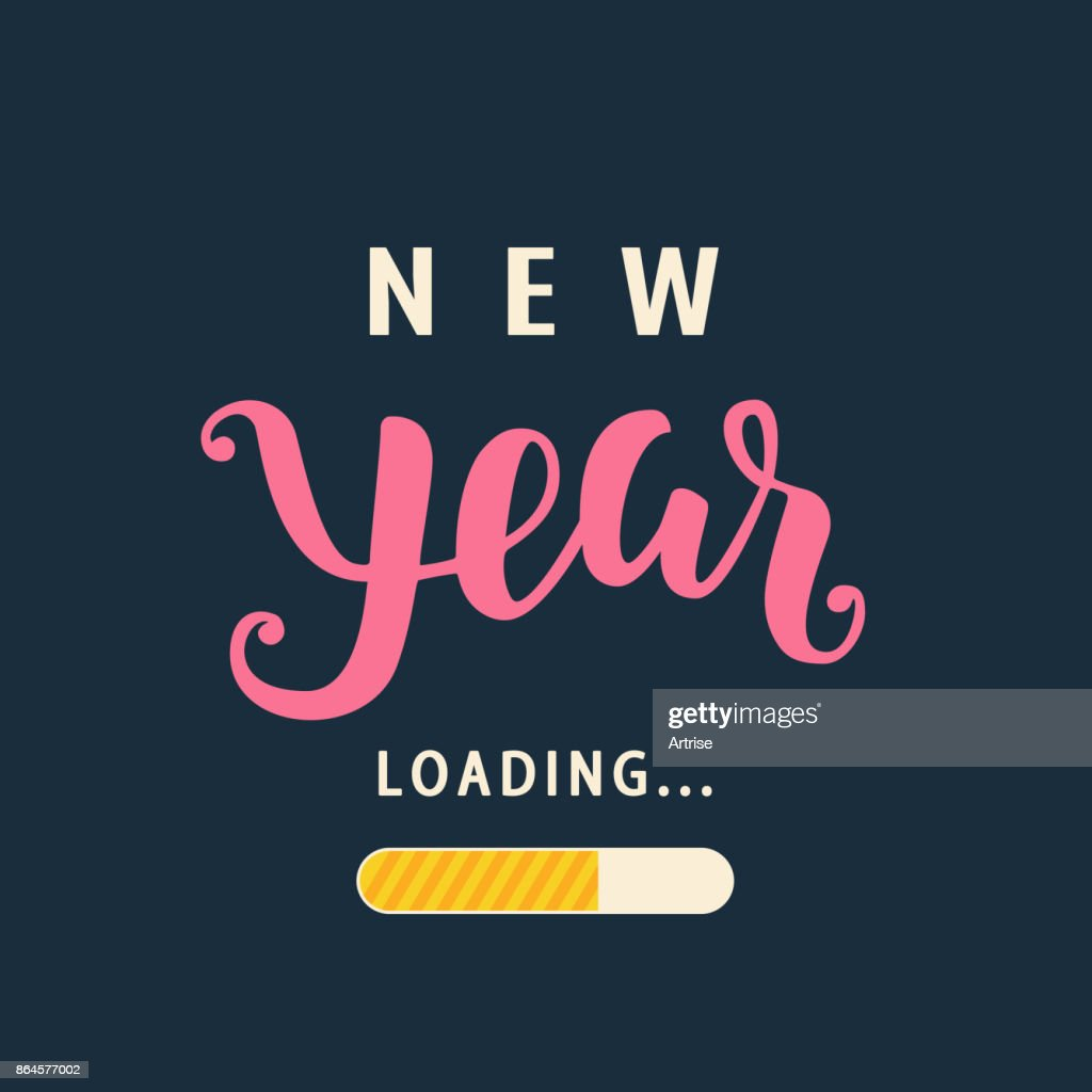 New Year is loading. Amusing New Year poster