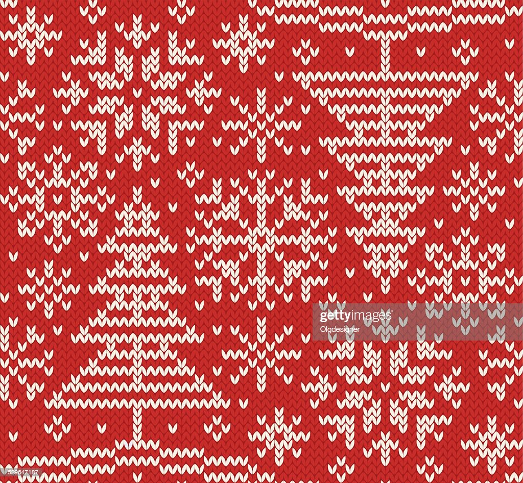 New year knitted northern seamless pattern