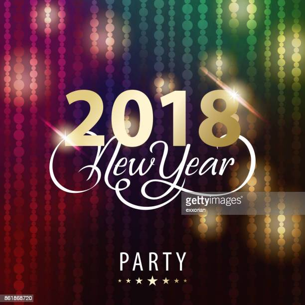 new year party 2018 invitations - blink stock illustrations, clip art, cartoons, & icons