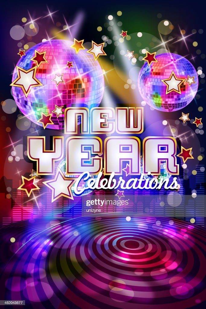 new year party celebrations background vector art