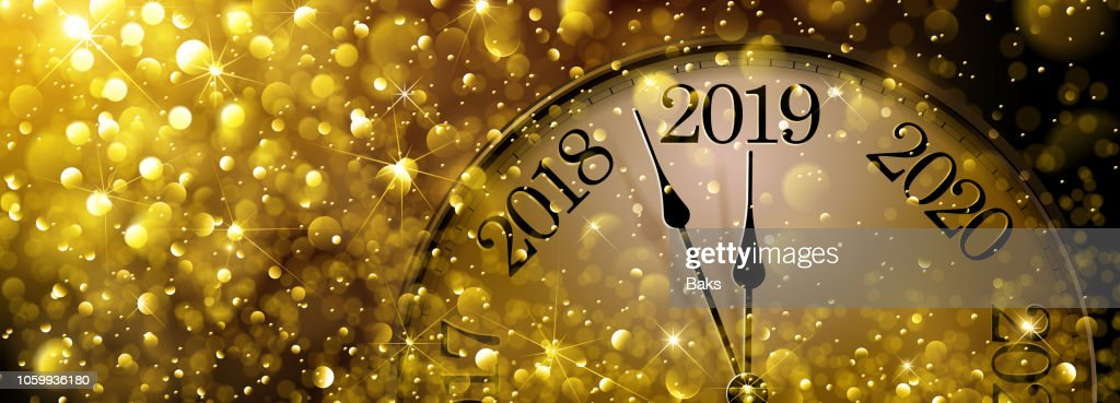 New Year s Eve 2019 Old Clock