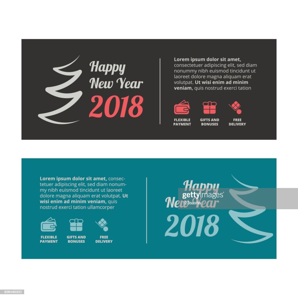 new year sale banner or gift voucher vector art