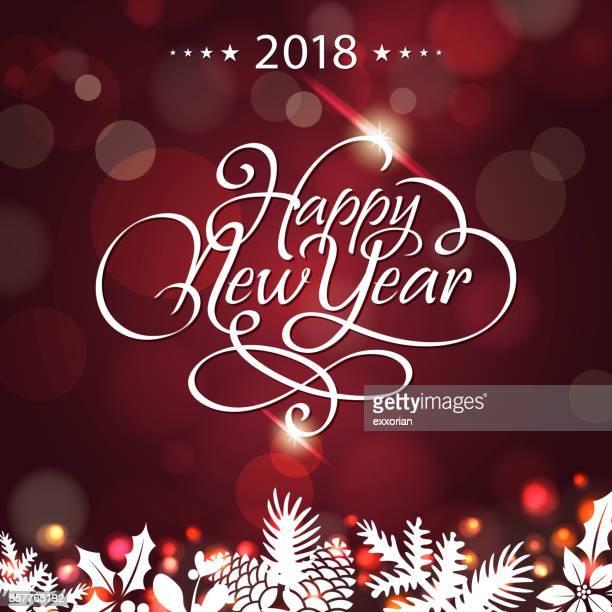 New Year Shiny Calligraphy 2018