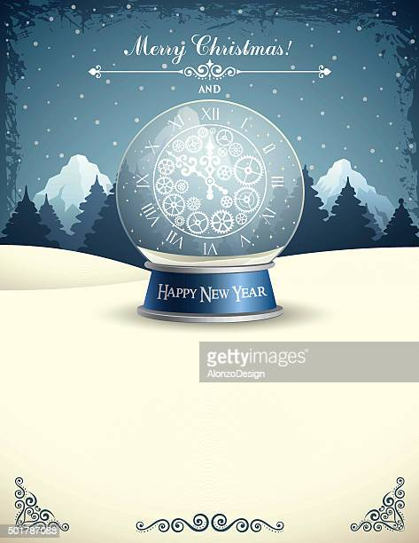 New Year Snow Globe