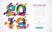 2019 New Year voucher design