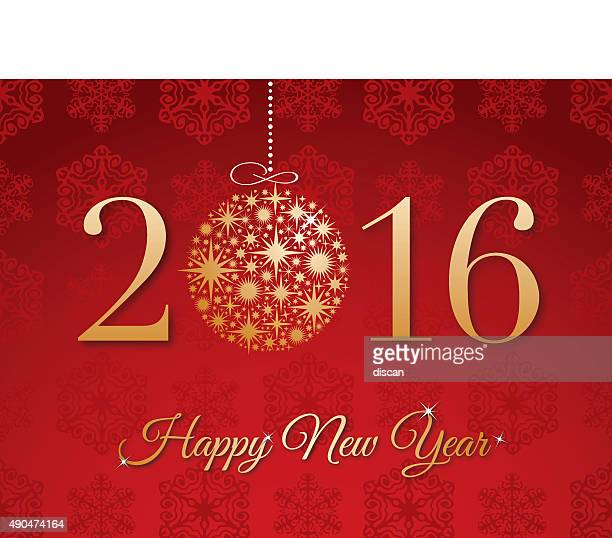 new year's 2016 background - illustration - 2016 stock illustrations, clip art, cartoons, & icons