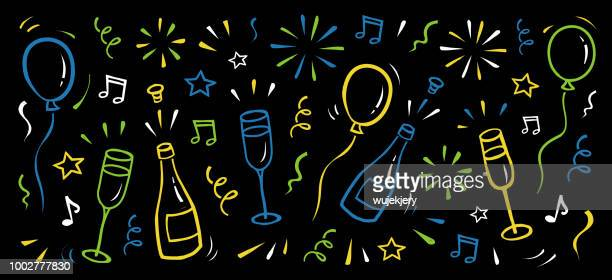 new year's background - celebration stock illustrations, clip art, cartoons, & icons
